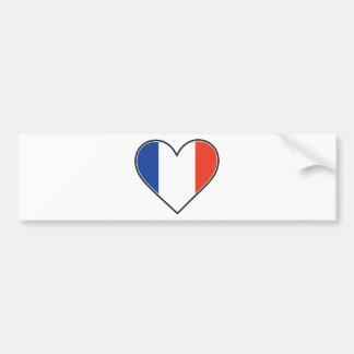 French Heart Flag Car Bumper Sticker