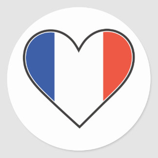 French Heart Flag Sticker
