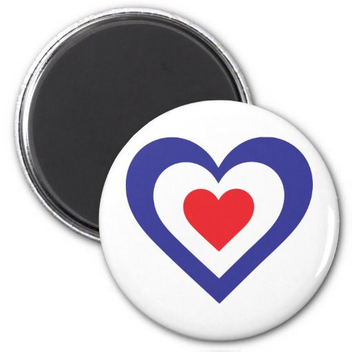 French Heart Refrigerator Magnet