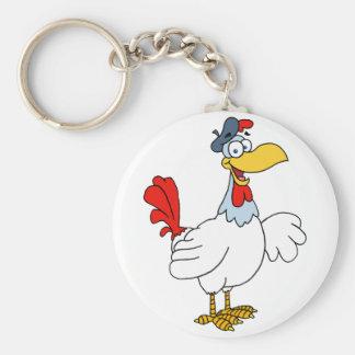 French Hen Chicken Keychain