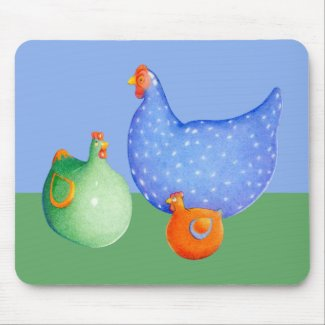 French Hens Mousepad mousepad