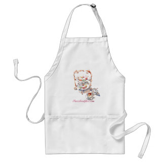 French High Tea Time Parisbreakfast.com Adult Apron