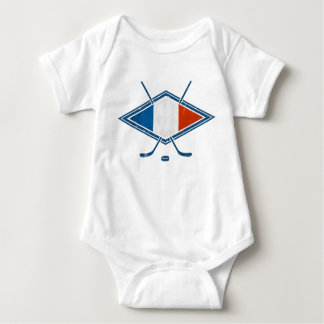 French Hockey Flag Logo Baby Bodysuit