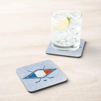 French Hockey Flag Logo Drink Coasters
