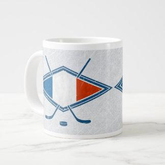 French Hockey Flag Logo Jumbo Mug