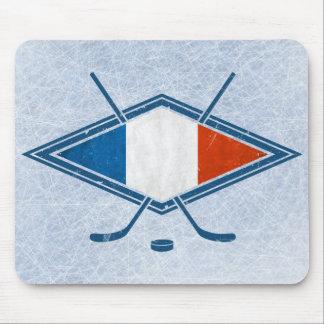 French Hockey Flag Logo Mouse Pad