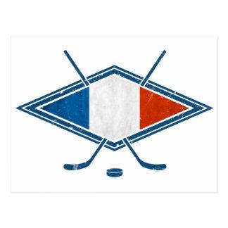 French Hockey Flag Logo Postcard