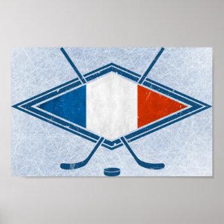 French Hockey Flag Logo Poster