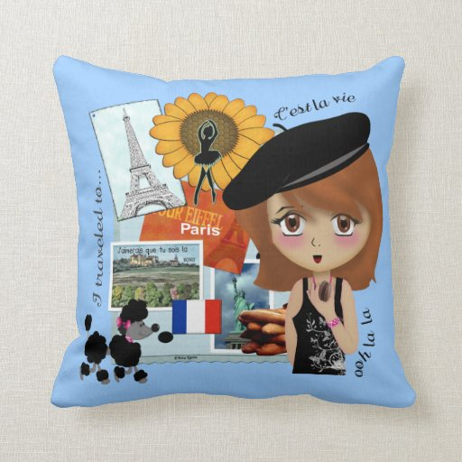 French Holiday Pillow