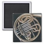 French Horn 2 Inch Square Magnet
