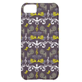 French Horn and Birdie Cover For iPhone 5C