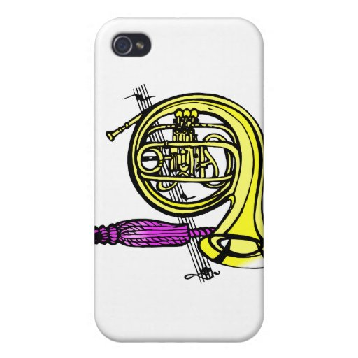 French horn and tassel product design iPhone 4 covers
