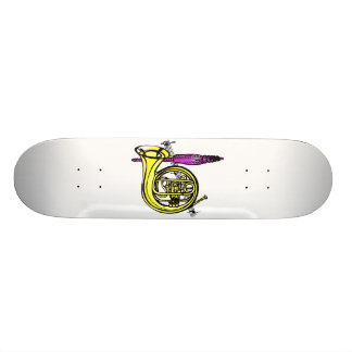 French horn and tassel product design skateboard deck