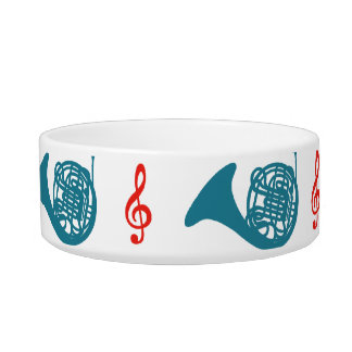 French Horn and Treble Clef Bowl