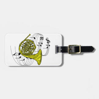 French Horn Bag Tags