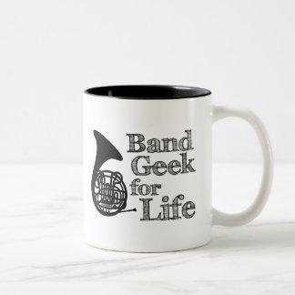 French Horn Band Geek Two-Tone Coffee Mug