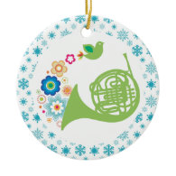 French Horn Band Music Christmas Keepsake Christmas Tree Ornament