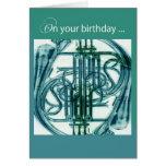 French Horn Birthday Greeting Card