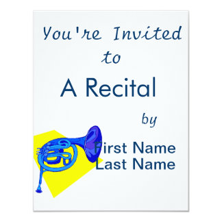 French Horn Blue Version With Yellow Card