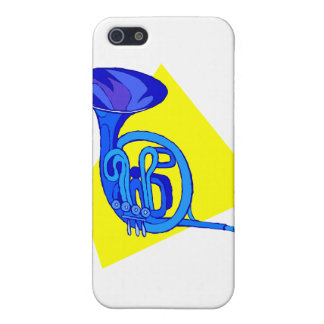 French Horn Blue Version With Yellow iPhone 5 Covers