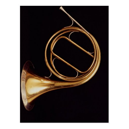 French Horn, by Marcel Auguste Raoux Post Card