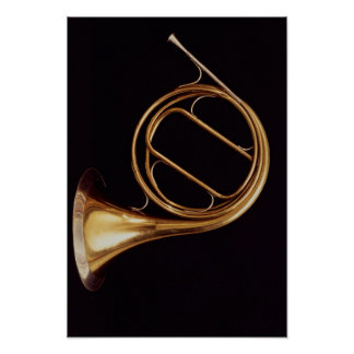 French Horn, by Marcel Auguste Raoux Poster