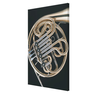 French Horn Stretched Canvas Prints