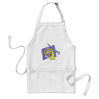French Horn Clarinet Purple Background Graphic Adult Apron