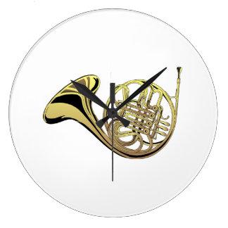 French Horn Wall Clocks
