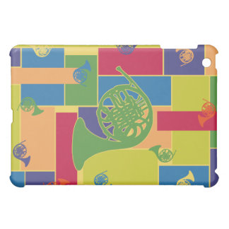 French Horn Colorblocks iPad Case