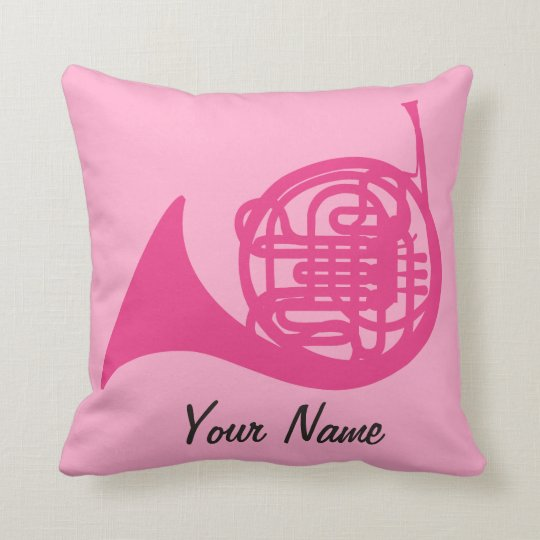 French Horn Cute Personalized Music Gift Pillow | Zazzle.com
