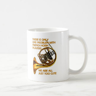 French Horn Cutie Classic White Coffee Mug