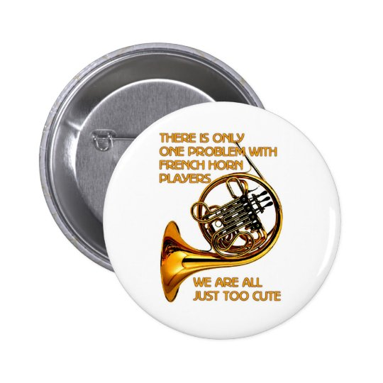 French Horn Cutie Pinback Button