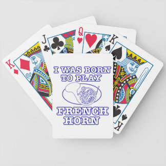 french horn Designs Bicycle Card Decks