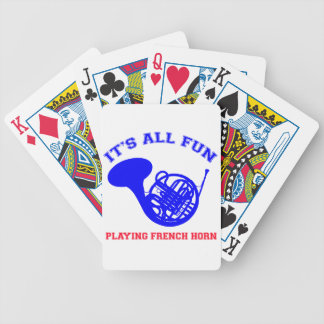 French Horn designs Bicycle Playing Cards