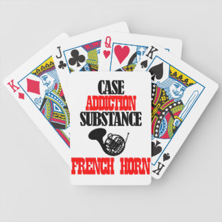FRENCH HORN designs Bicycle Poker Cards
