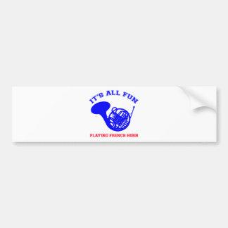 French Horn designs Bumper Sticker