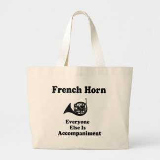 French Horn Gift Large Tote Bag