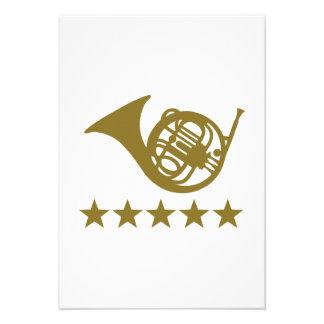 French horn golden stars custom announcement
