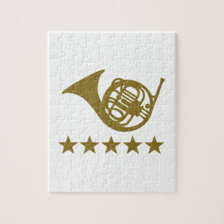 French horn golden stars puzzles