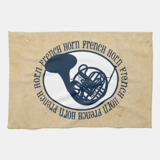 French Horn Hand Towel