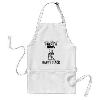 French Horn Happy Place Adult Apron