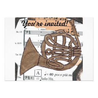 French Horn invitation