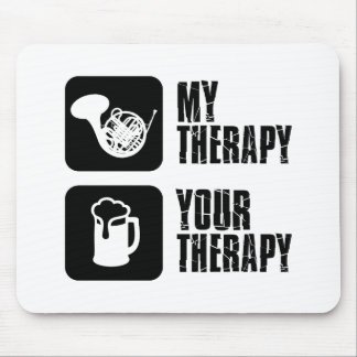 french horn is my therapy mouse pad