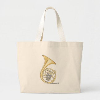 french horn large tote bag