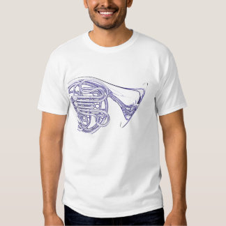 French Horn Line Drawing Shirt