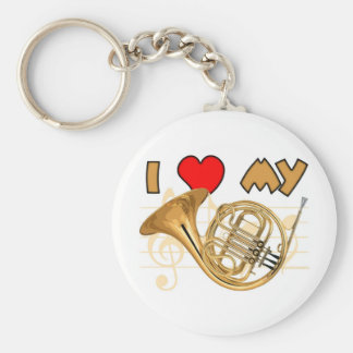 French Horn Love Keychain