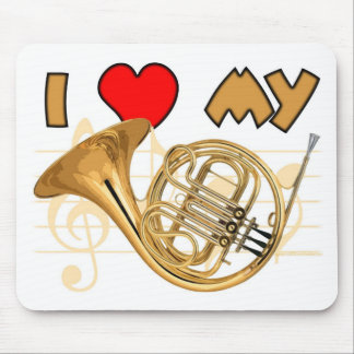 French Horn Love Mouse Pad