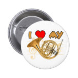 French Horn Love Pinback Button