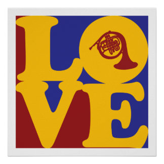 French Horn Love Print
